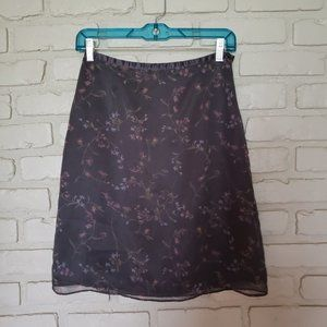 The Limited Silky Floral Mini Skirt Size 2